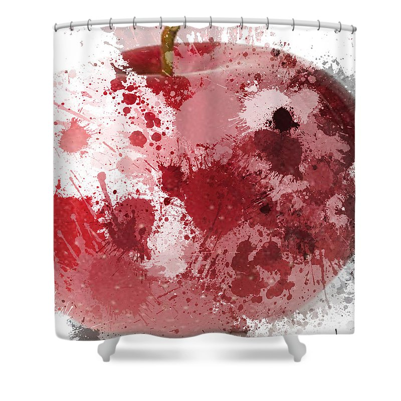 Abstract Shower Curtain featuring the photograph Apple A Day by The Artist Project