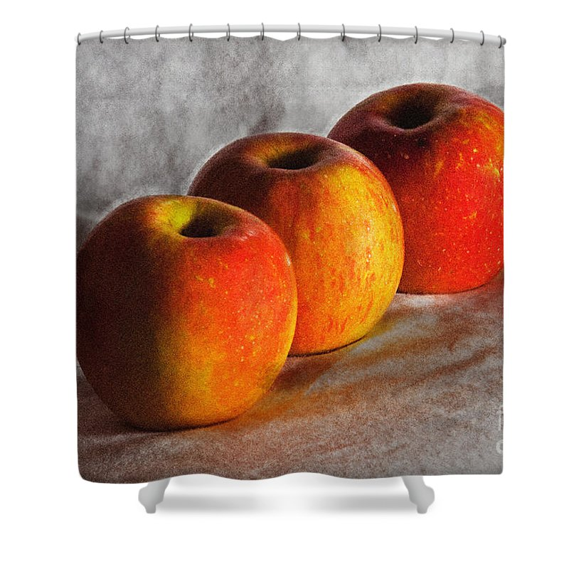 Apples Shower Curtain featuring the photograph Apples by Bruce Bain