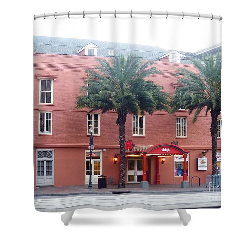 Arby's Shower Curtain featuring the photograph Arby's At Dawn by Alys Caviness-Gober