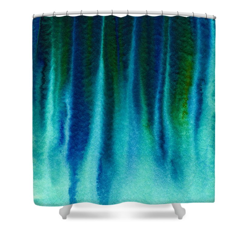 Acrylic Shower Curtain featuring the painting Arctic Spires Of Ice by Hakon Soreide
