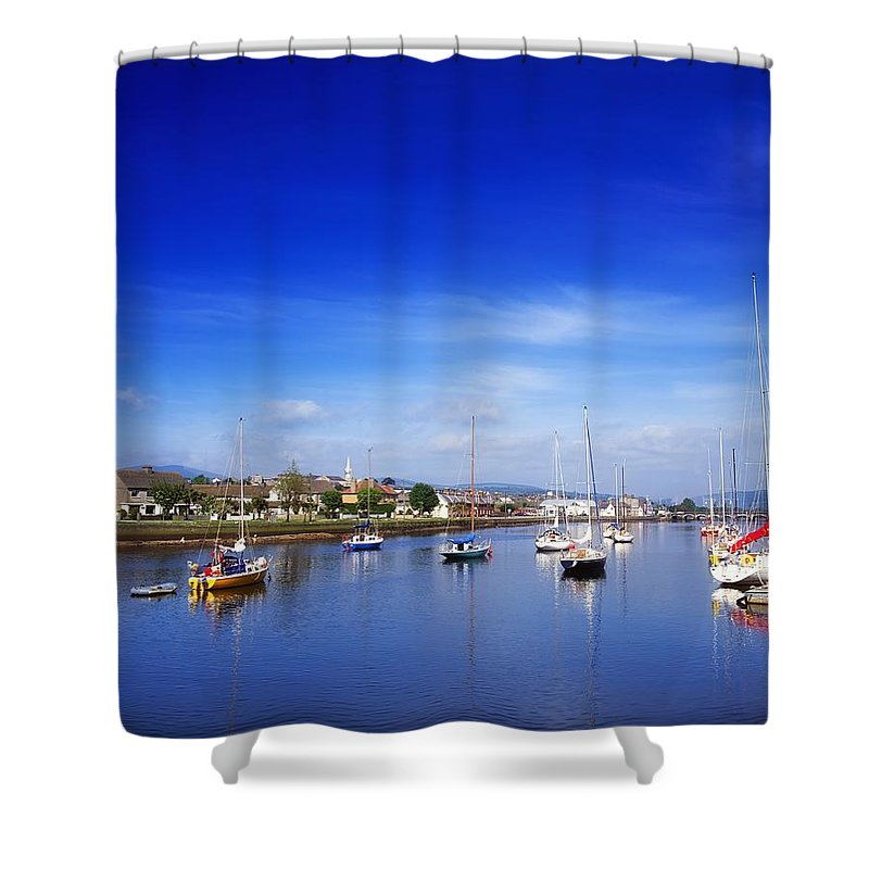 Arklow Harbour Shower Curtain featuring the photograph Arklow, River Avoca, County Wicklow by The Irish Image Collection
