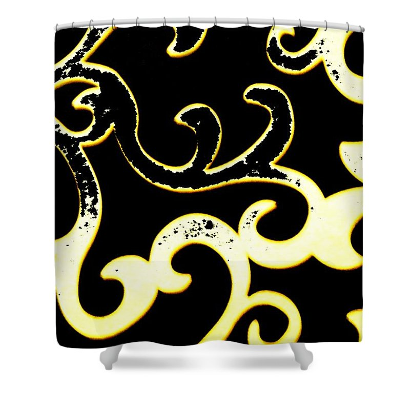 Black And White Shower Curtain featuring the photograph Art Deco Branchlets by Renate Nadi Wesley