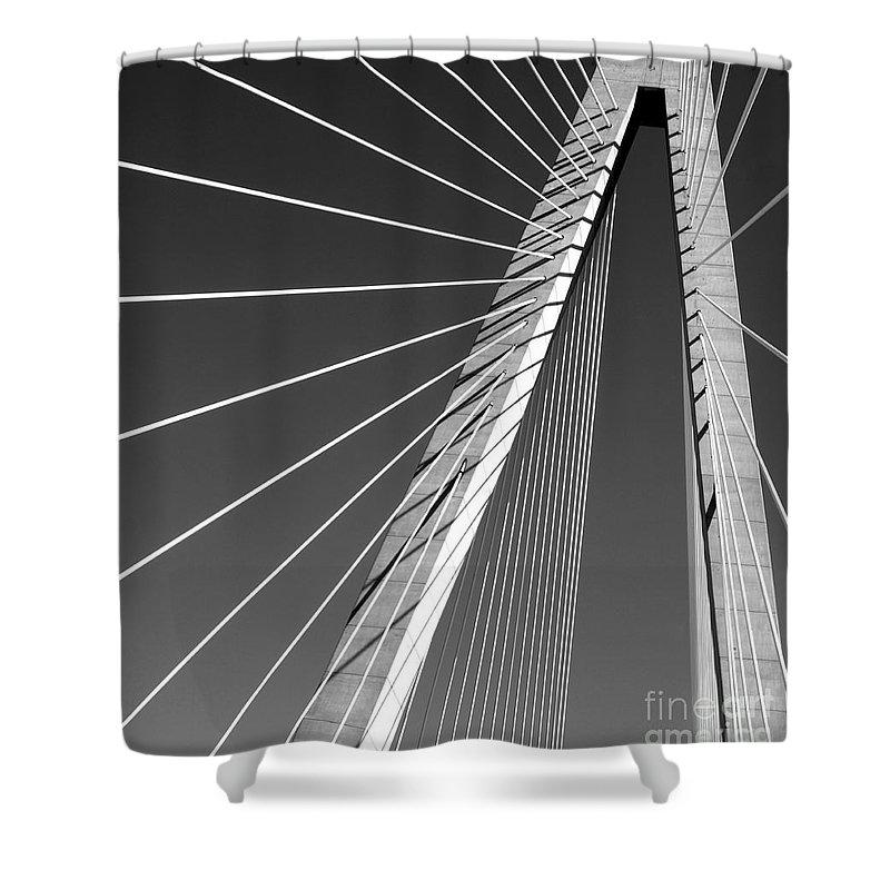 Arthur Ravenel Shower Curtain featuring the photograph Arthur Ravenel Jr.bridge by Melody Jones