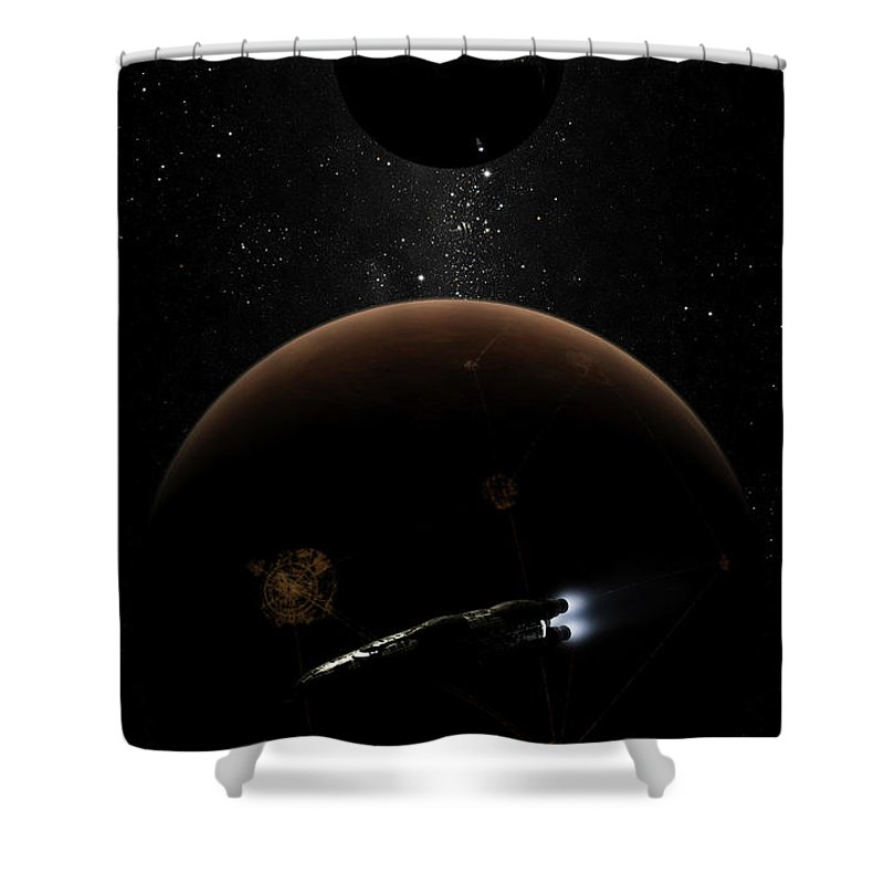 Artwork Shower Curtain featuring the digital art Artists Concept Illustrating The Laws by Brian Christensen