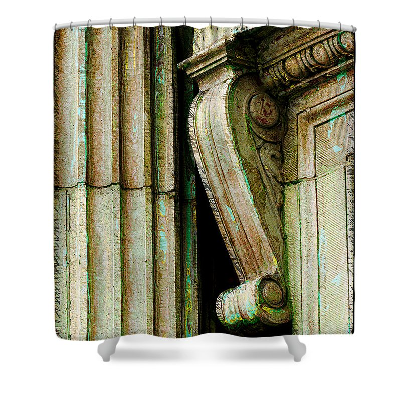 Arcitecture Shower Curtain featuring the photograph Artsy Elements by Debbie Portwood