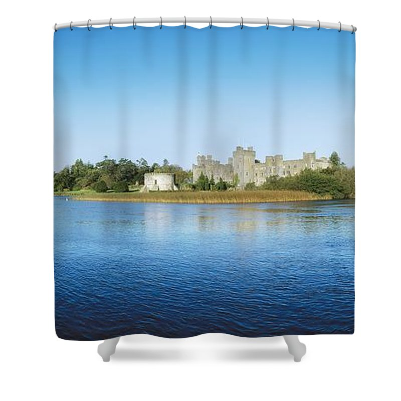 Archaeology Shower Curtain featuring the photograph Ashford Castle Hotel, Near Cong, Co by The Irish Image Collection