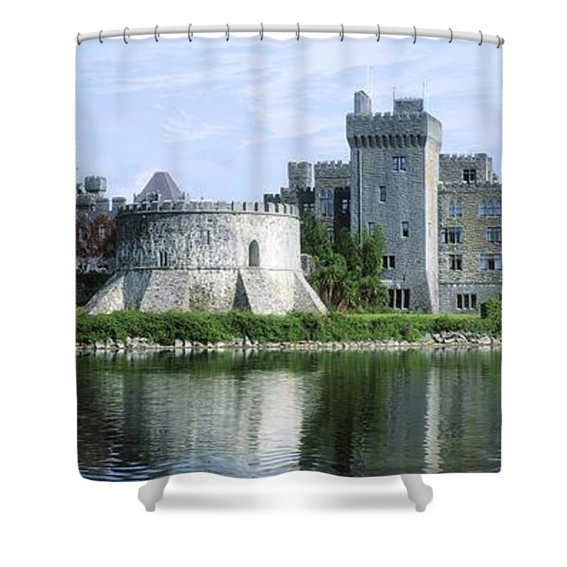 Angling Shower Curtain featuring the photograph Ashford Castle, Lough Corrib, Co Mayo by The Irish Image Collection