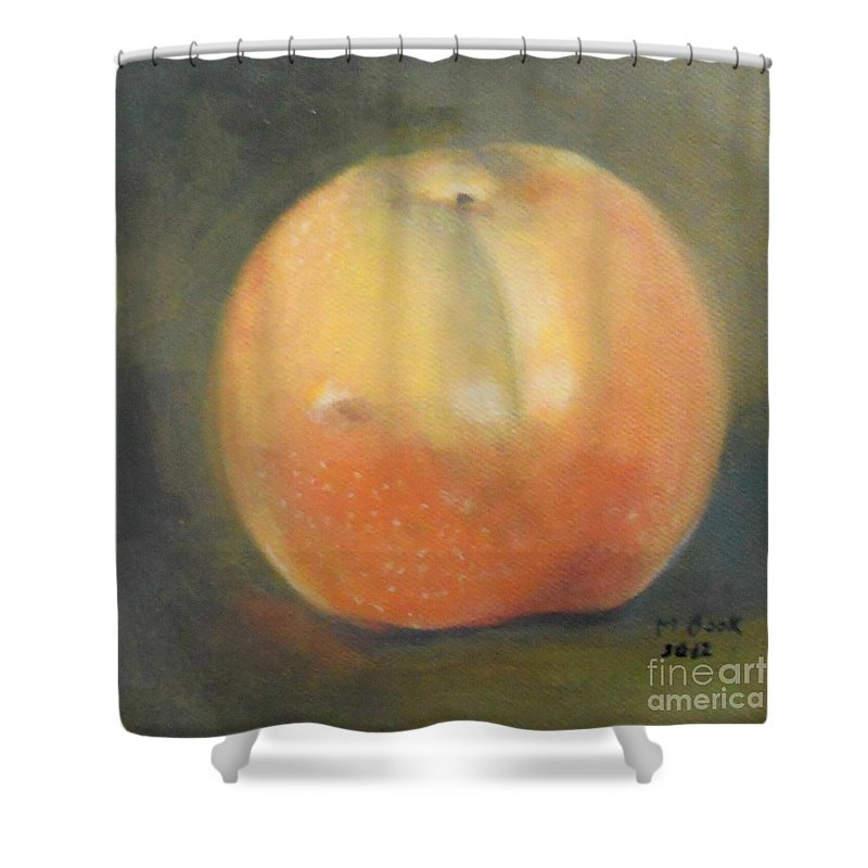 Still Life Shower Curtain featuring the painting Asian Pear by Marlene Book