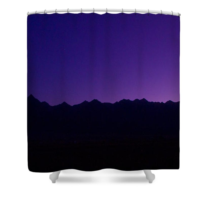 Purple Shower Curtain featuring the photograph At First Light by Peggy Starks