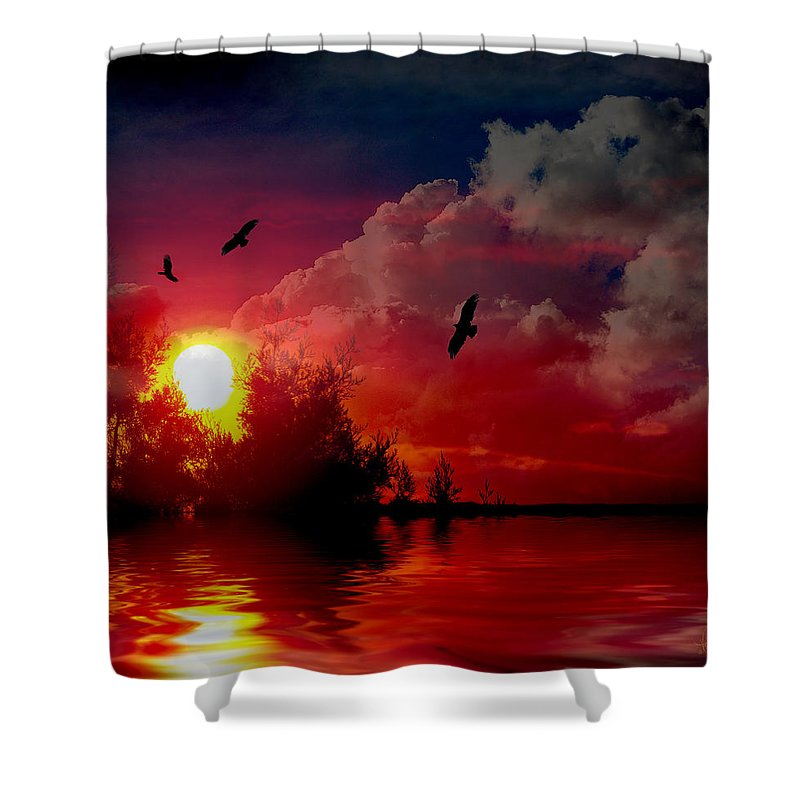 Photograph Shower Curtain featuring the photograph At The End Of The Day by Vicki Pelham