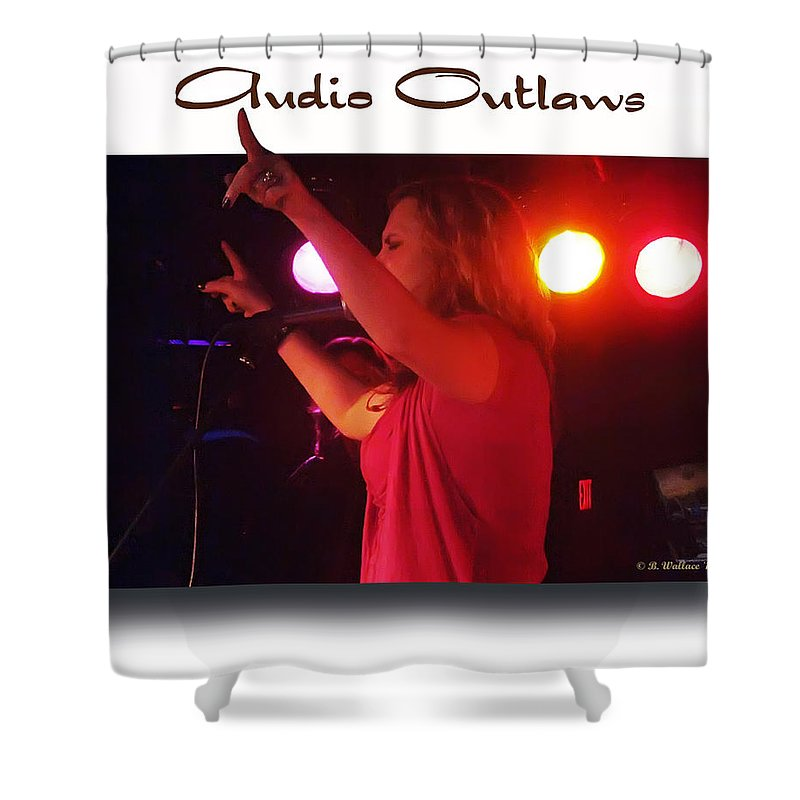 2d Shower Curtain featuring the photograph Audio Outlaws by Brian Wallace