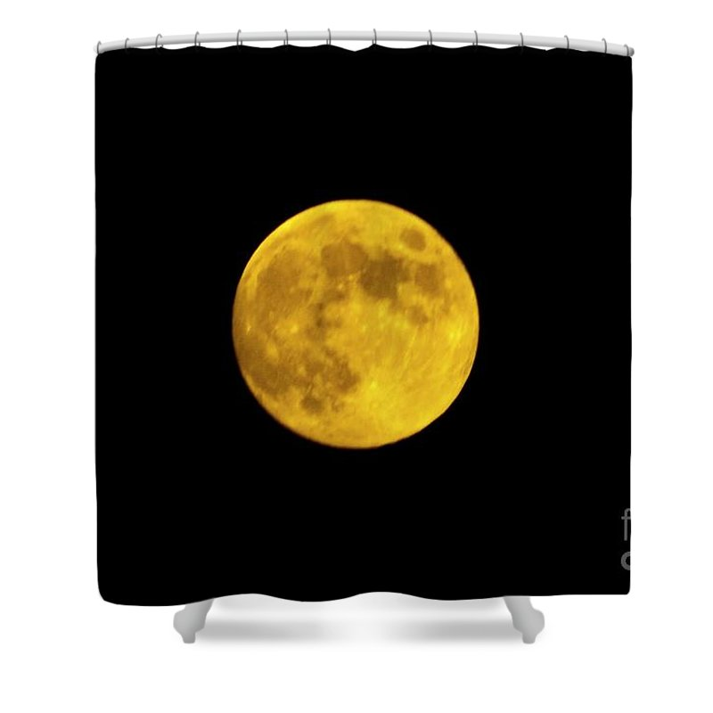 Moon Shower Curtain featuring the photograph August Moon by Tommy Anderson