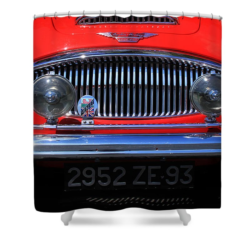 Austin Shower Curtain featuring the photograph Austin Healey by Andrew Fare