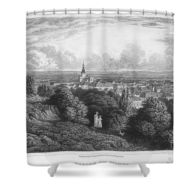 1822 Shower Curtain featuring the photograph Austria: Baaden, 1822 by Granger