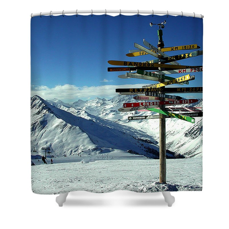 Colette Shower Curtain featuring the photograph Austria Mountain Road Show by Colette V Hera Guggenheim