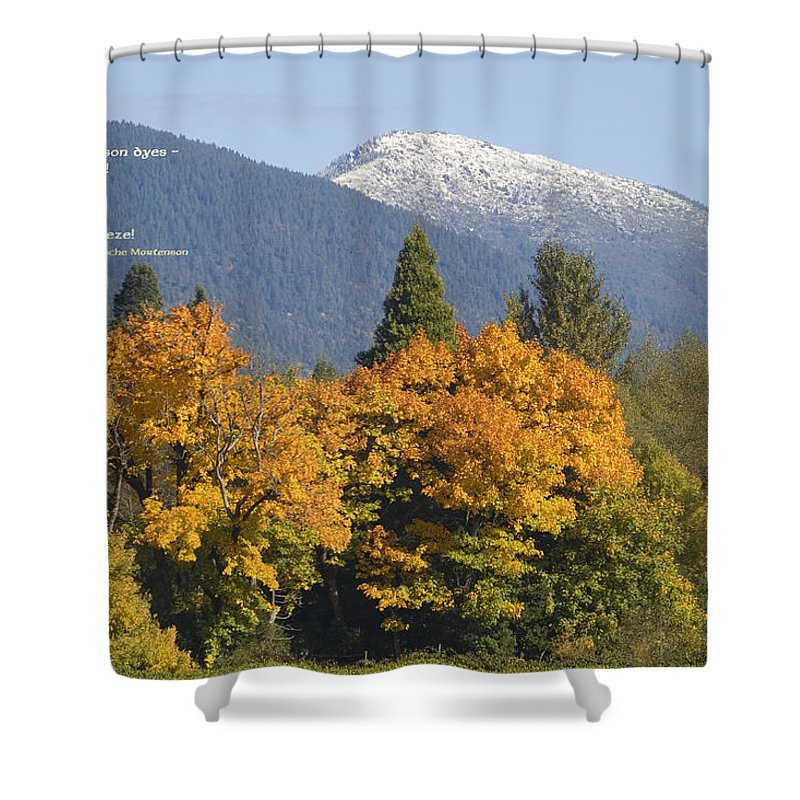 Illinois Valley Shower Curtain featuring the photograph Autumn In The Illinois Valley by Mick Anderson