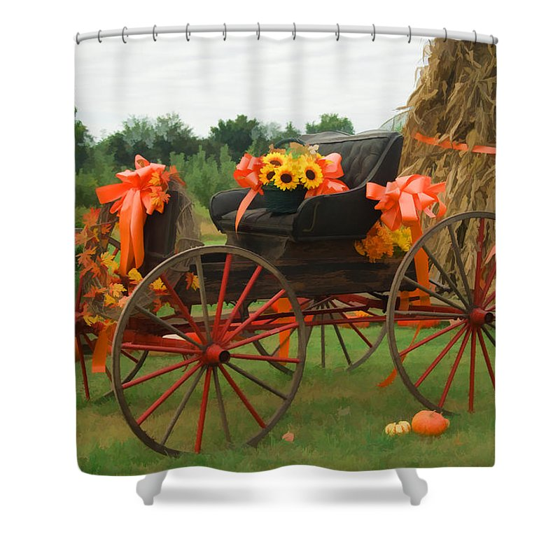 Autumn Shower Curtain featuring the photograph Autumn Joy by Kathy Clark