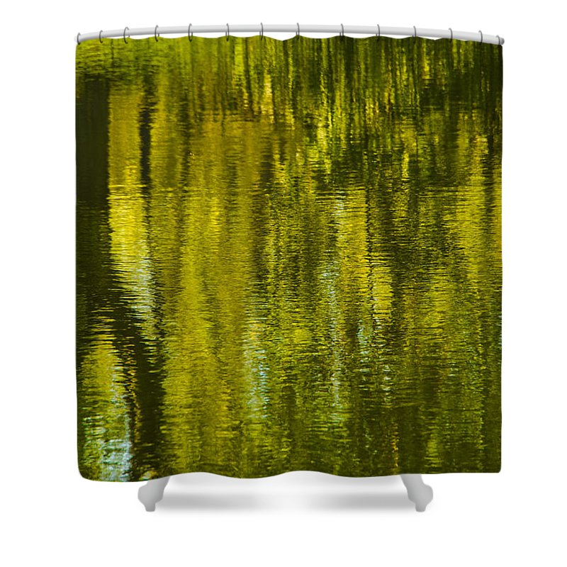 Montreal Shower Curtain featuring the photograph Autumn Water Reflection Abstract IIi by Valerie Rosen