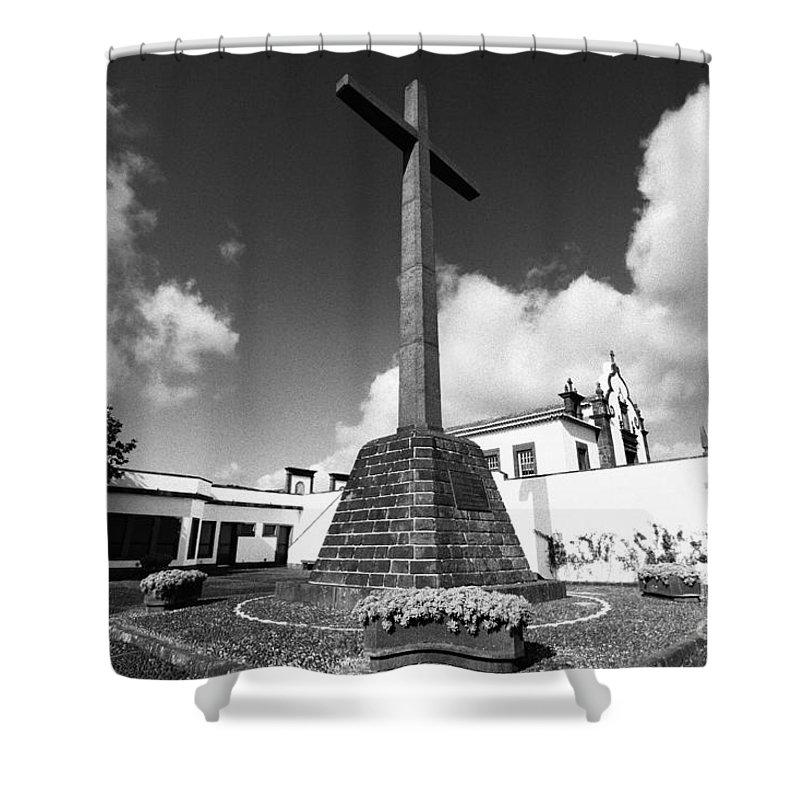 Azores Shower Curtain featuring the photograph Azorean Chapel by Gaspar Avila