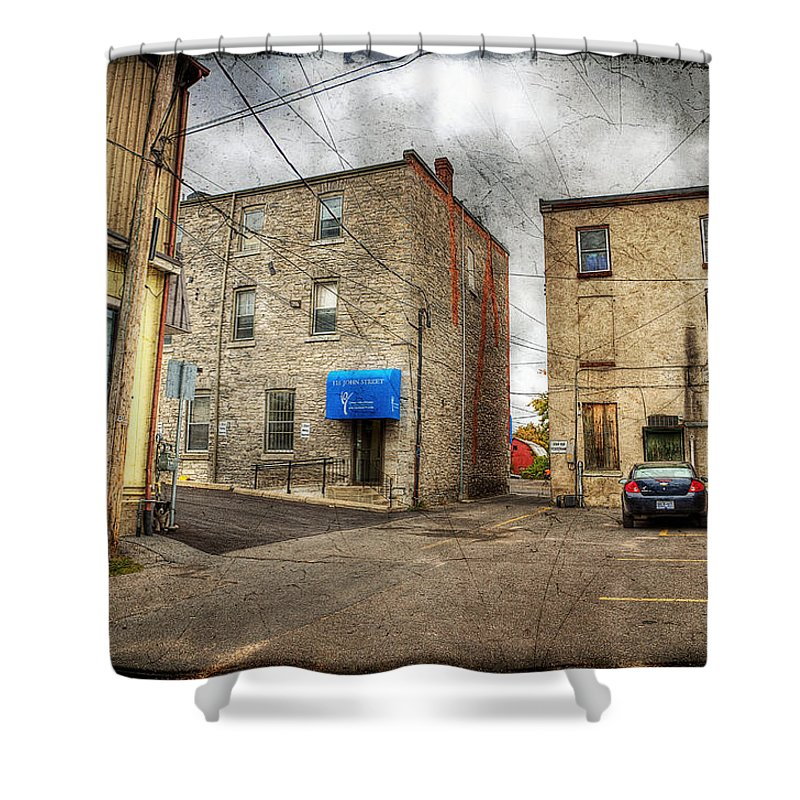 Acrylic Prints Shower Curtain featuring the photograph Back Alley Napanee by John Herzog