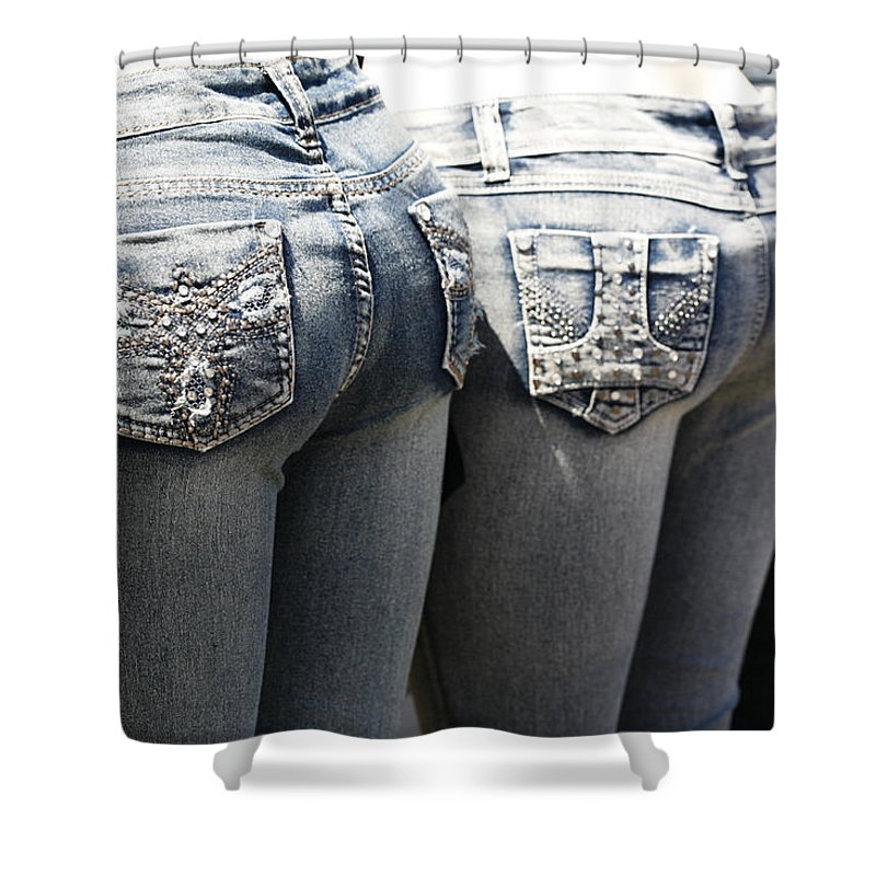 Rear Shower Curtain featuring the photograph Back End Bling by Marilyn Hunt