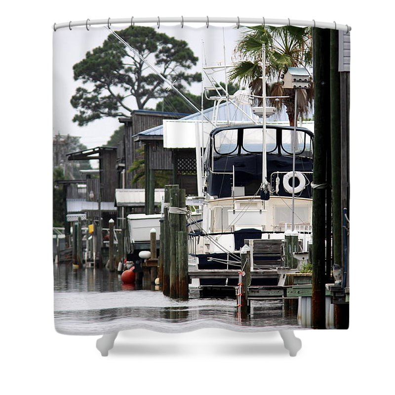 Orange Beach Al Shower Curtain featuring the photograph Back Street by Travis Truelove