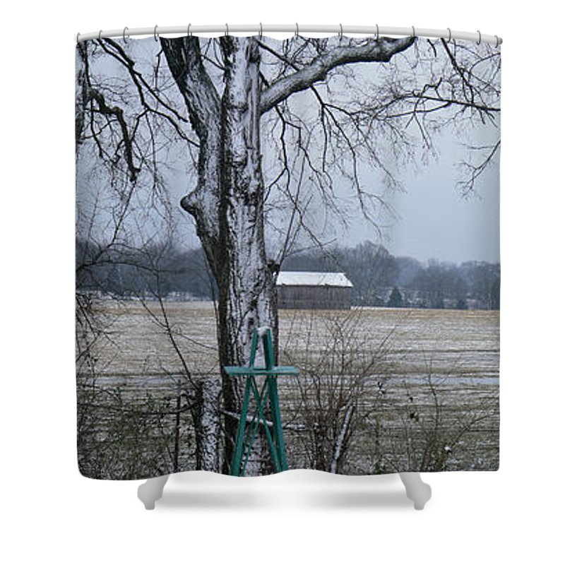 Tn Shower Curtain featuring the photograph Backyard Panoramic by Ericamaxine Price