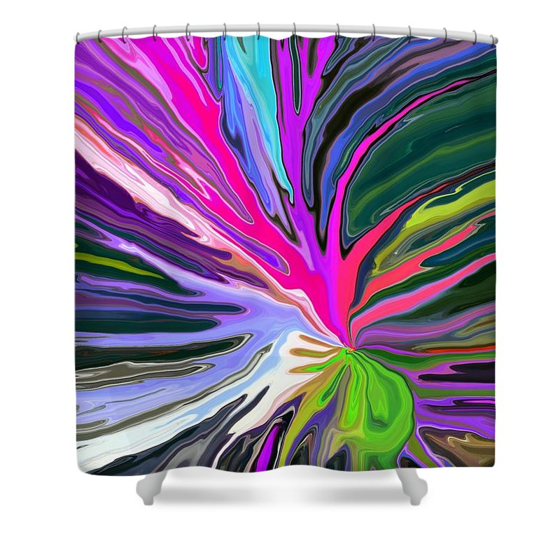 Abstract Shower Curtain featuring the digital art Bad Seed by Chris Butler