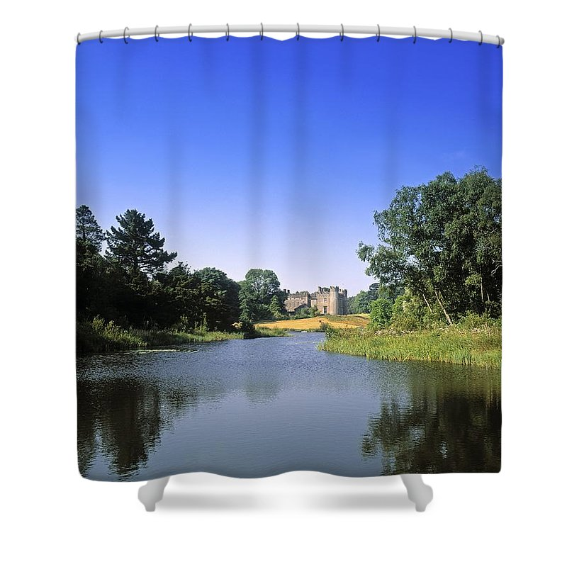 Atmosphere Shower Curtain featuring the photograph Ballinlough Castle, Clonmellon, Co by The Irish Image Collection