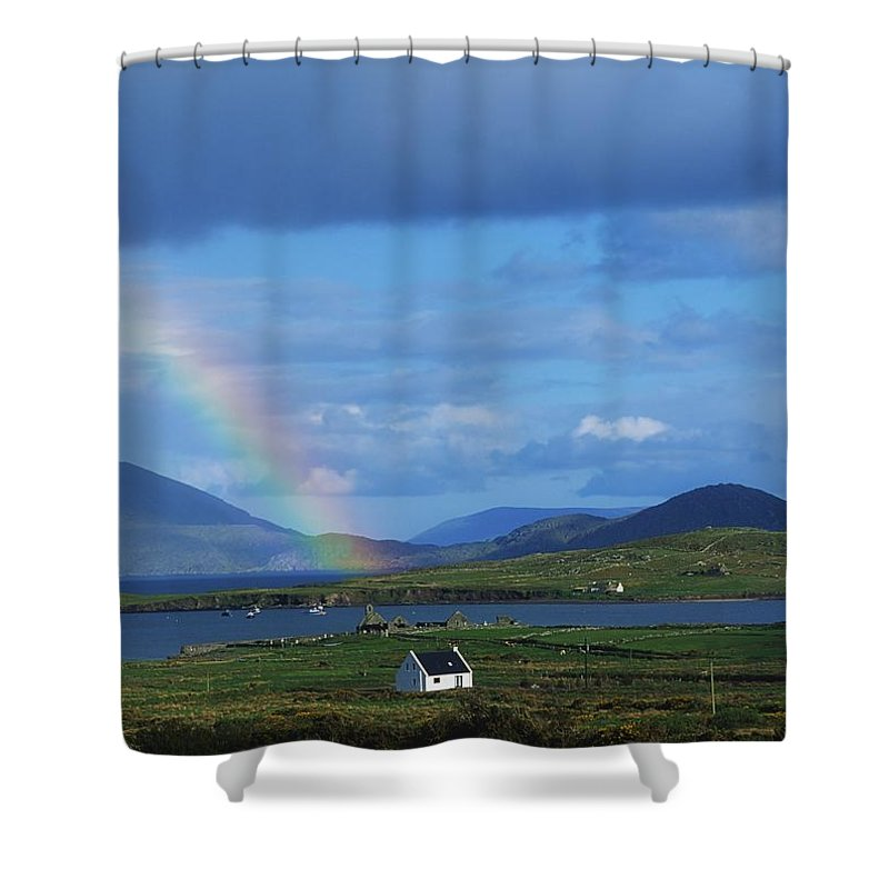 Beauty In Nature Shower Curtain featuring the photograph Ballinskellig, Ring Of Kerry, Co Kerry by The Irish Image Collection