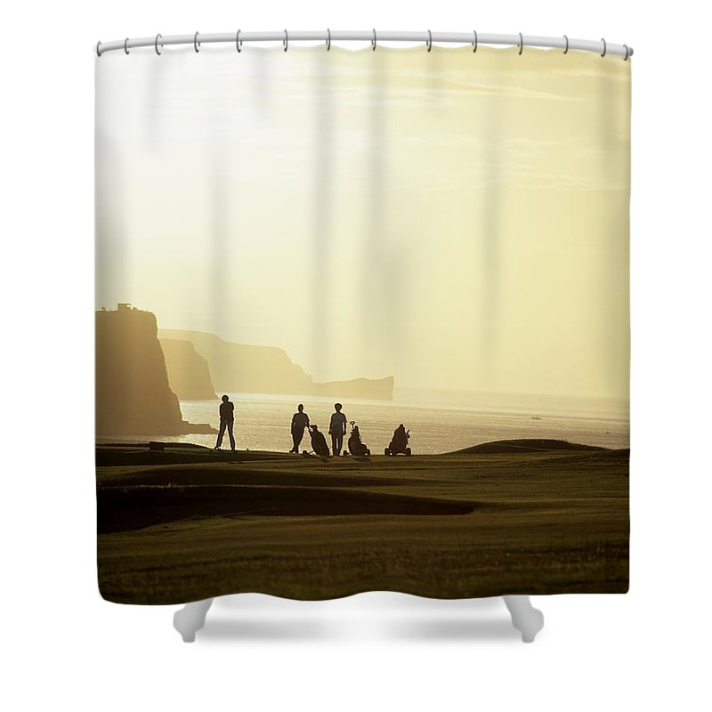 Outdoors Shower Curtain featuring the photograph Ballycastle Golf Club, Co Antrim by The Irish Image Collection
