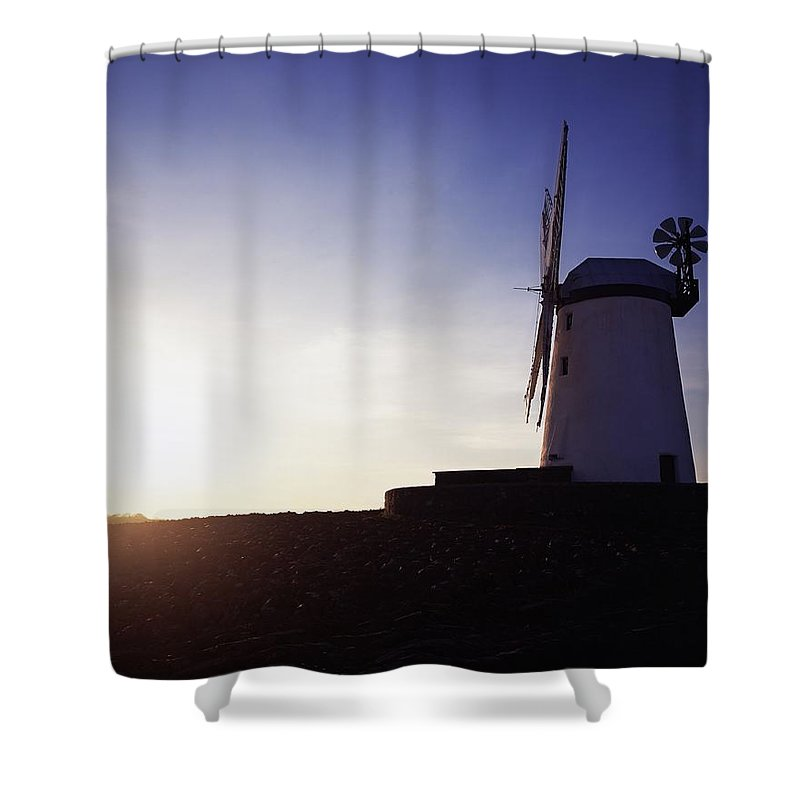 Architecture Shower Curtain featuring the photograph Ballycopeland Windmill, Co. Down by The Irish Image Collection