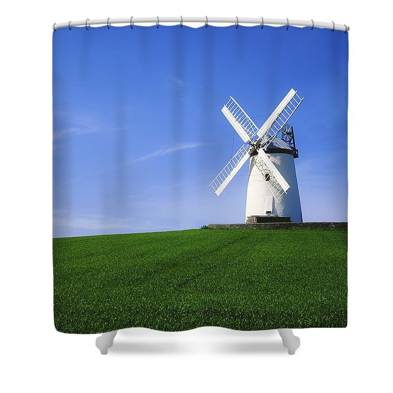 Outdoors Shower Curtain featuring the photograph Ballycopeland Windmill, Millisle by The Irish Image Collection