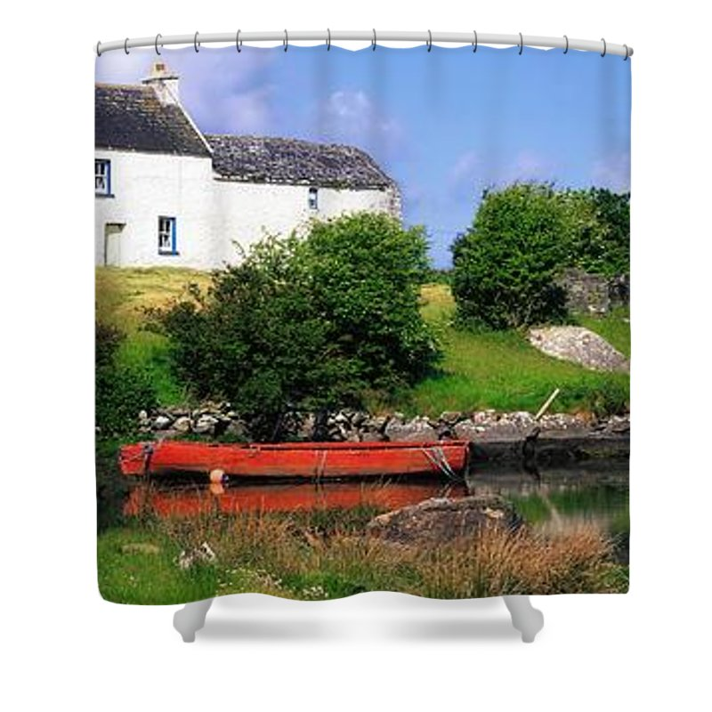 Ballycrovane Shower Curtain featuring the photograph Ballycrovane, Beara Peninsula, Co Cork by The Irish Image Collection