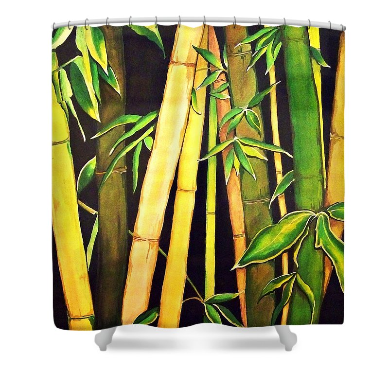 Bamboo Leaves Shower Curtain for Sale by Ivy Sharma
