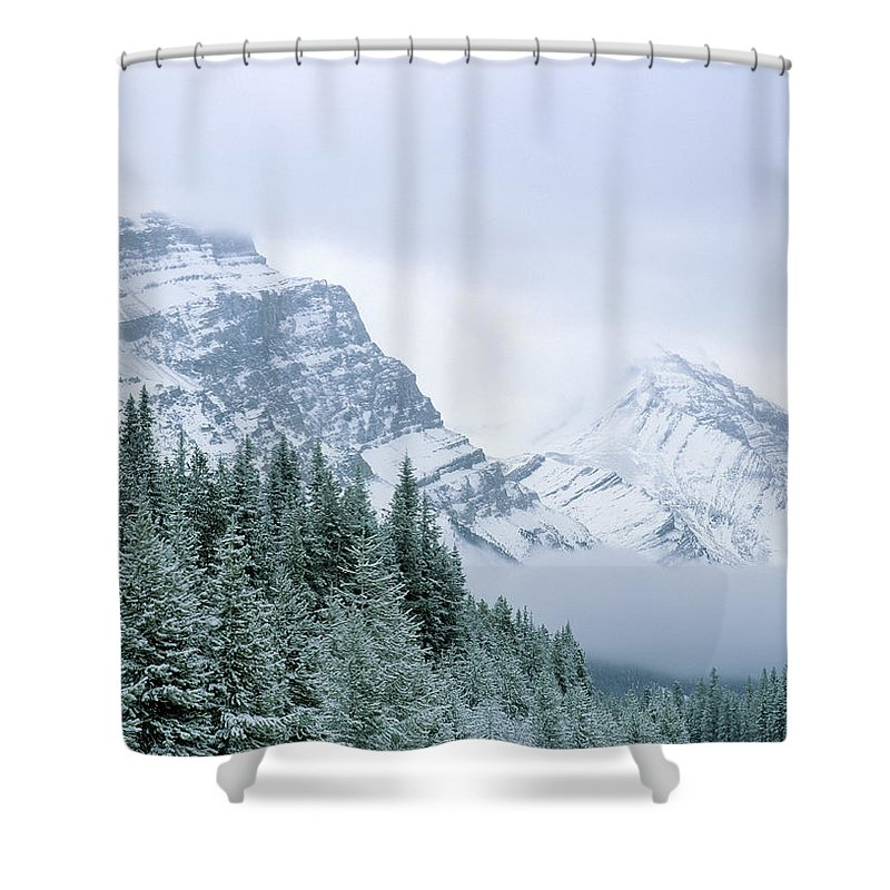 Light Shower Curtain featuring the photograph Banff National Park, Alberta, Canada by Darwin Wiggett