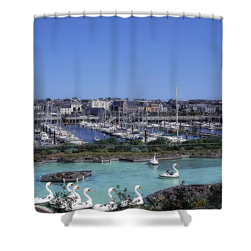 Animal Likeness Shower Curtain featuring the photograph Bangor, Co. Down, Ireland by The Irish Image Collection