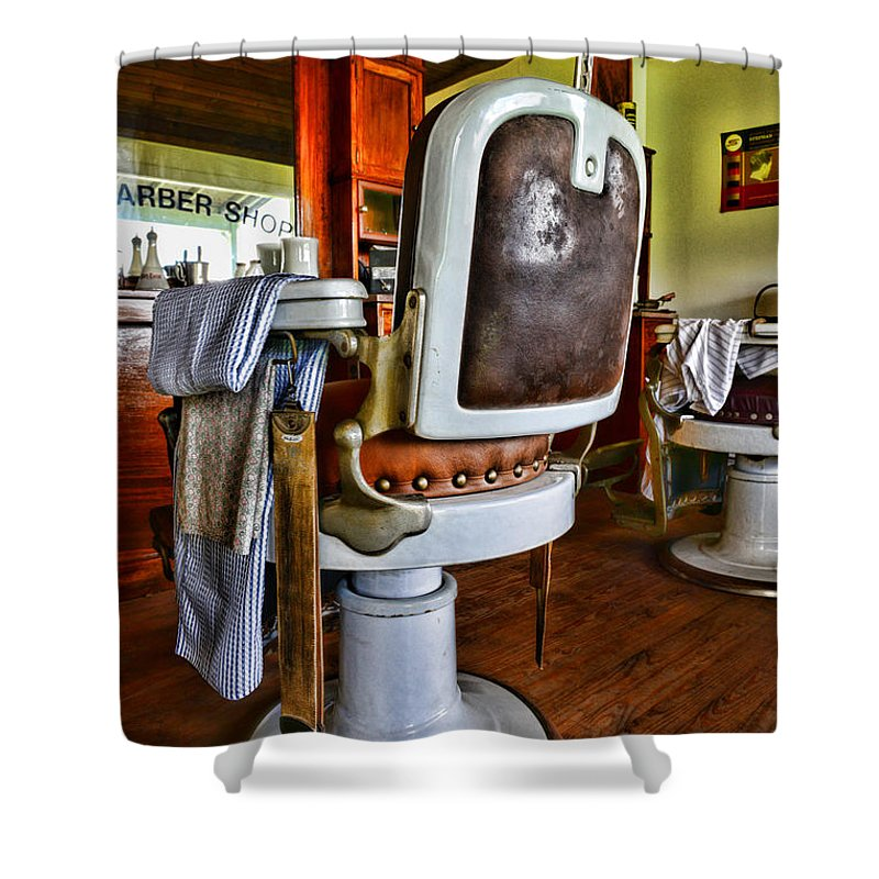 Barber - The Barber's Chair Shower Curtain featuring the photograph Barber - Barber Chair by Paul Ward