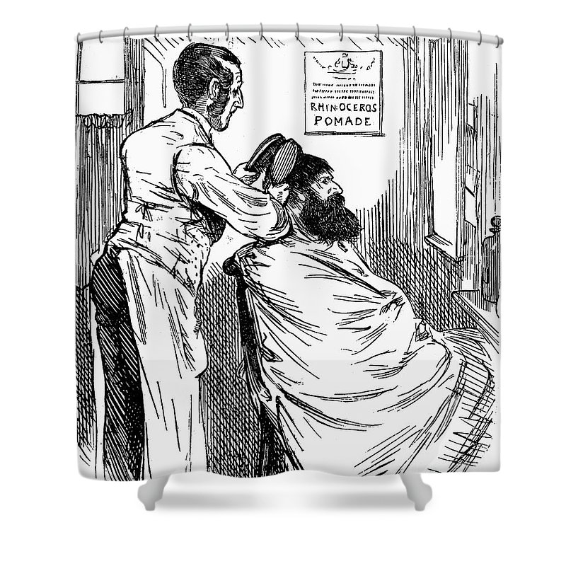 19th Century Shower Curtain Featuring The Photograph Barbershop By Granger
