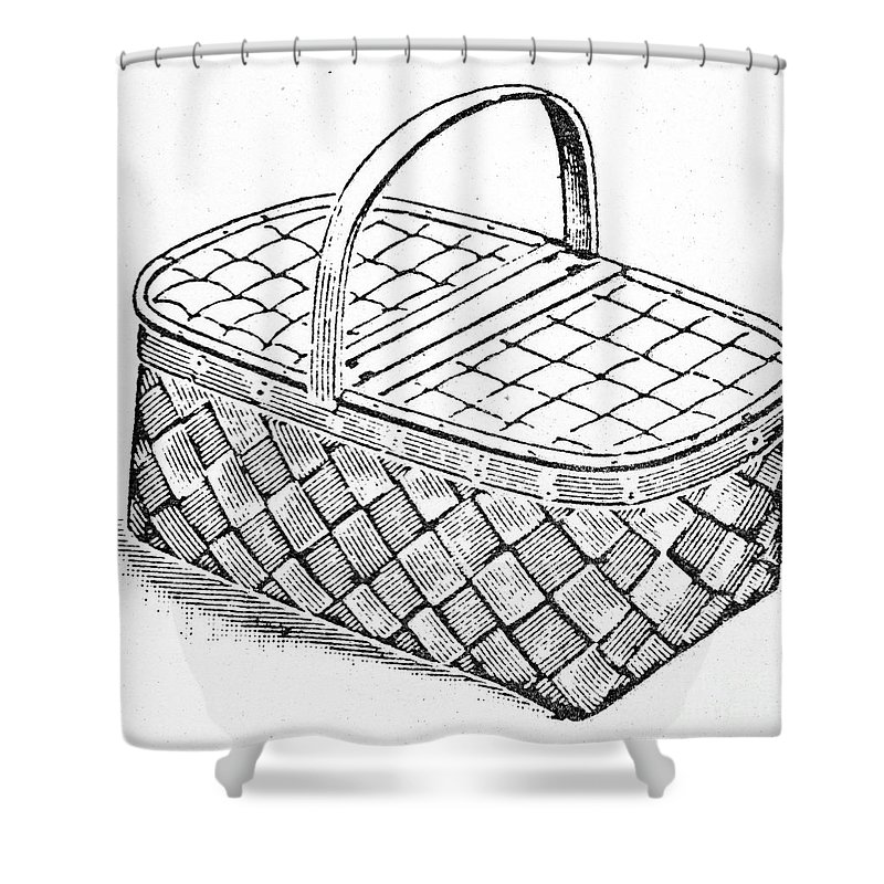 19th Century Shower Curtain featuring the photograph Basket, 19th Century by Granger