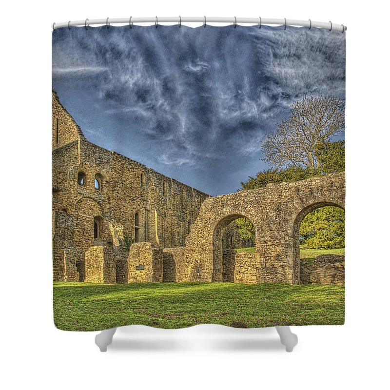 Battle Abbey Shower Curtain featuring the photograph Battle Abbey Ruins by Chris Thaxter