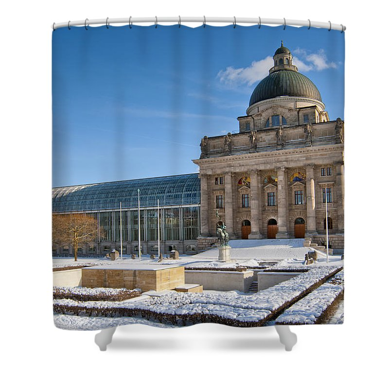 Affairs Shower Curtain featuring the photograph Bavarian State Chancellery by Andrew Michael
