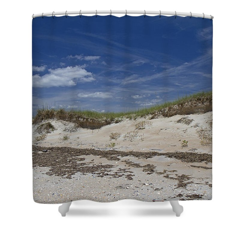 Shackleford Shower Curtain featuring the photograph Beach Dunes by Betsy Knapp