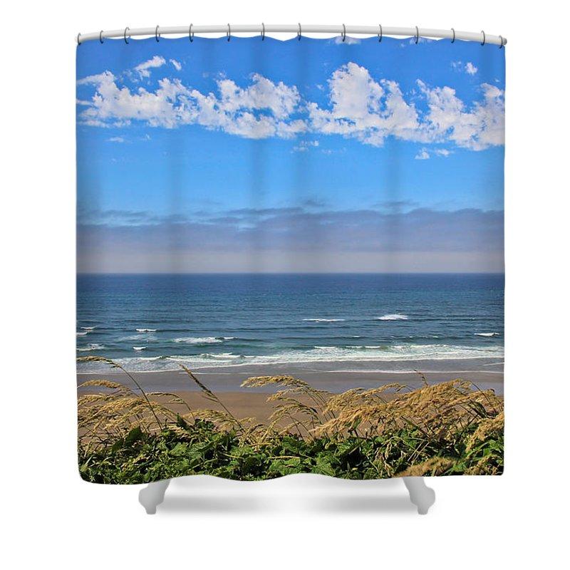 Beach Shower Curtain featuring the photograph Sunshine Beach by Athena Mckinzie