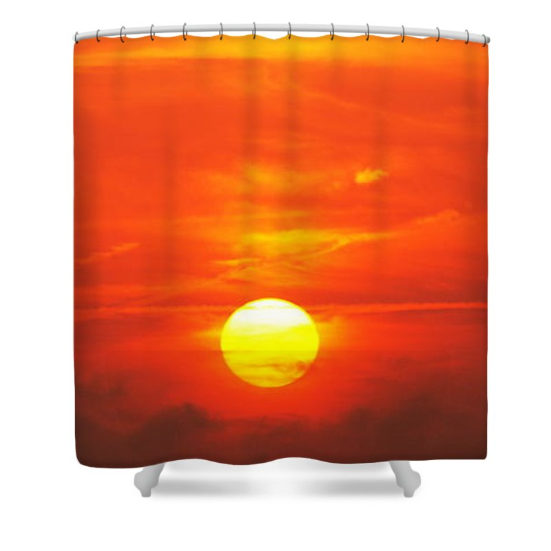 Sunset Shower Curtain featuring the photograph Beautiful Sunset by Paul Wilford