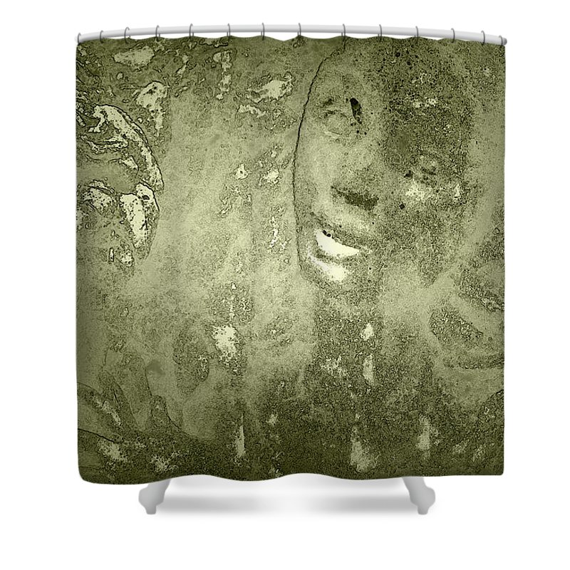 Beauty Shower Curtain featuring the photograph Beauty Cast In Stone by Kathy Clark