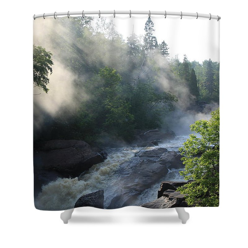 Shower Curtain featuring the photograph Beaver River Fog4 by Joi Electa
