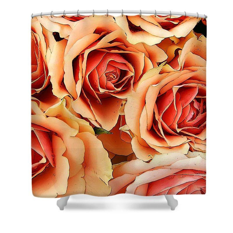 Kg Shower Curtain featuring the photograph Bergen Roses by KG Thienemann