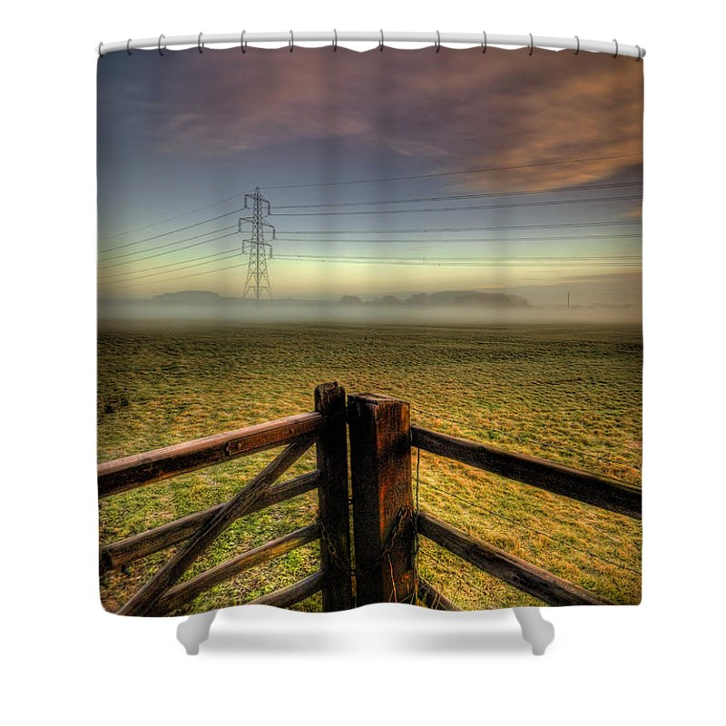 Yhun Suarez Shower Curtain featuring the photograph Between The Lines by Yhun Suarez