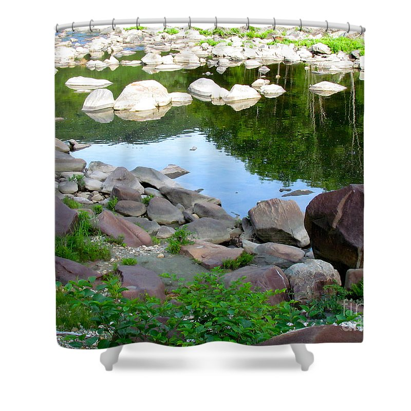 Reflection Shower Curtain featuring the photograph Beyond The Potholes by Randi Shenkman